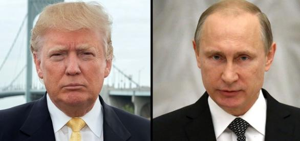 Donal Trump y Vladimir Putin unidos.