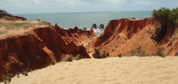 Falésias na Praia de Morro Branco