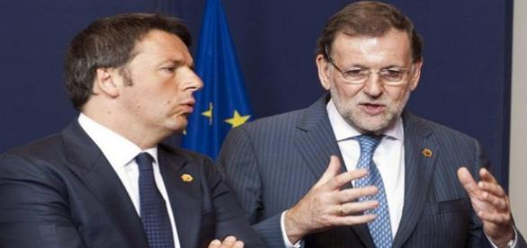 Mariano Rajoy junto a Matteo Renzi. Flickr