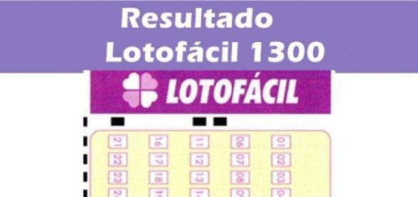 Resultado do jogo Lotofácil 1300