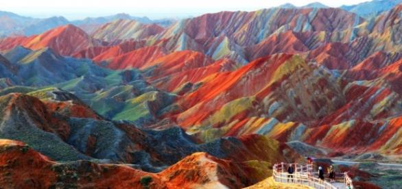 As montanhas psicodélicas de Zhangye, China