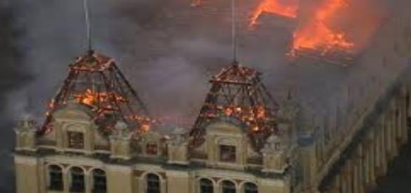 Incêndio na Estação da Luz(Foto:Reprodução)