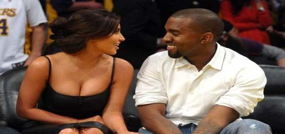 Kim Kardashian and Kanye West (flickr)
