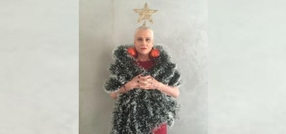 Vera Holtz surpreende a todos como árvote de natal