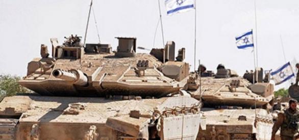 Blindados na faixa de Gaza (Imagem: Google)