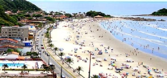 Praias da cidade de Itanhaém, vista aérea