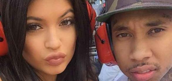 Kylie Jenner com o namorado Tyga