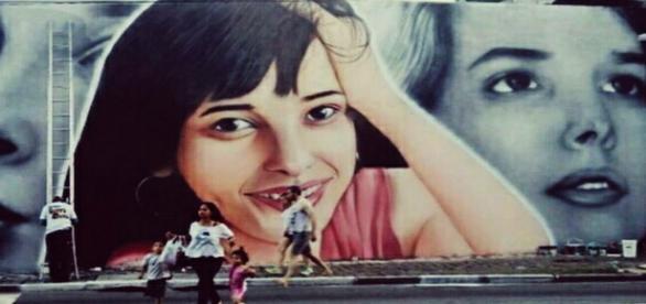 Mural em homenagem à Daniella Perez