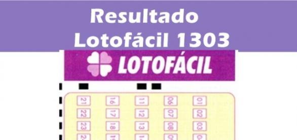 Resultado do jogo Lotofácil 1303