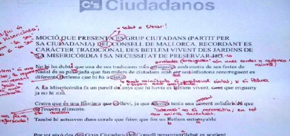 Documento presentado por ciudadanos.
