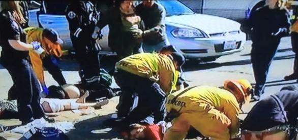 Mais um massacre nos EUA. Imagens do Youtube
