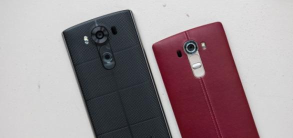 Lado a lado: LGs V10 e G4, respectivamente.
