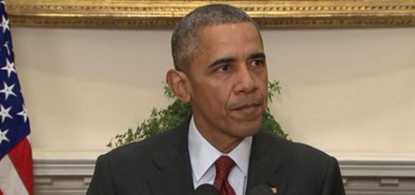 Barack Obama durante pronunciamento.