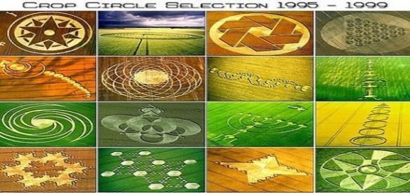 "Vista aérea de formação denominada ""Crop circle"""