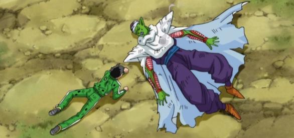 Gohan y Piccolo malheridos en el capitulo 22