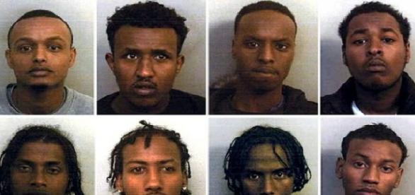 Grupa imigrantów zamieszanych w gwałty
