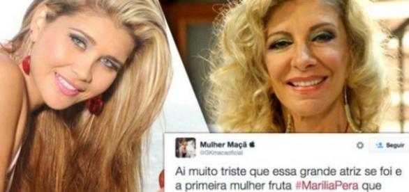 Mulher Maçã diz que Marília Pêra foi fruta