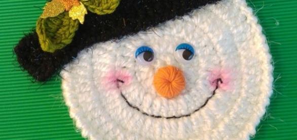 Muñeco de Nieve tejido a crochet