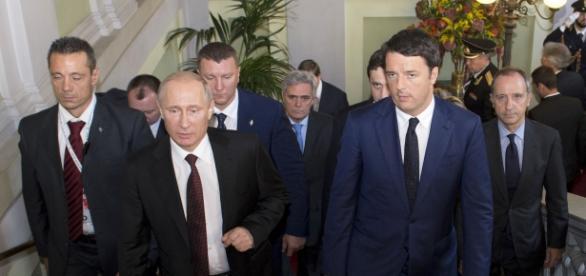 Renzi e Putin in un recente incontro