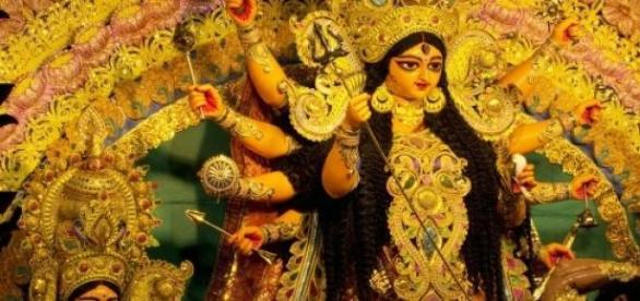 Durga, uma das deusas mais celebradas no Hinduísmo
