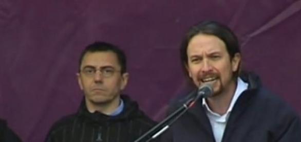 Pablo Iglesias przemawia w Madrycie