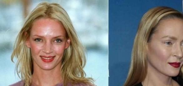El antes y el después de Uma Thurman