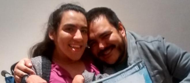 """Sergio Tovar Velarde (Director de """"Cuatro Lunas"""") y yo."""