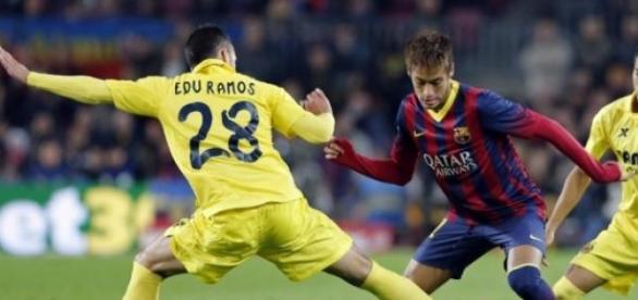 Neymar frente al Villareal