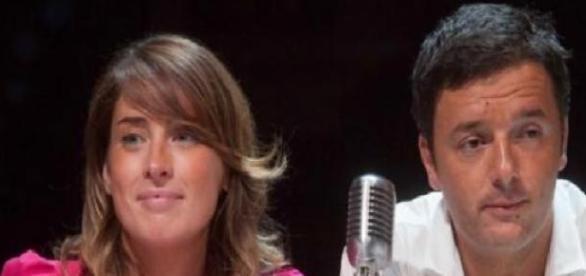 MariaElena Boschi e Matteo Renzi