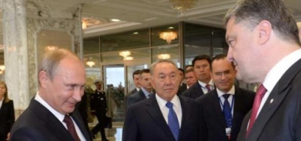 Vladimir Putin e Petro Poroshenko