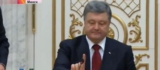 Petro Poroszenko nie krył niezadowolenia.
