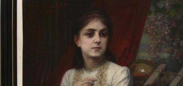 Fragment dintr-un tablou cu Iulia Hasdeu