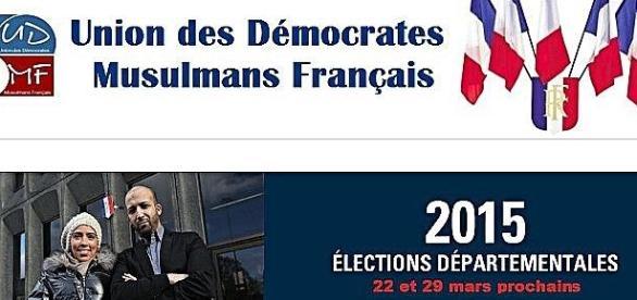 Page d'accueil du site WEB de l'UDMF