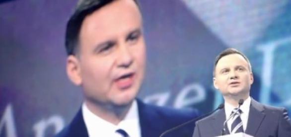Andrzej Duda przemawia podczas konwencji wyborczej