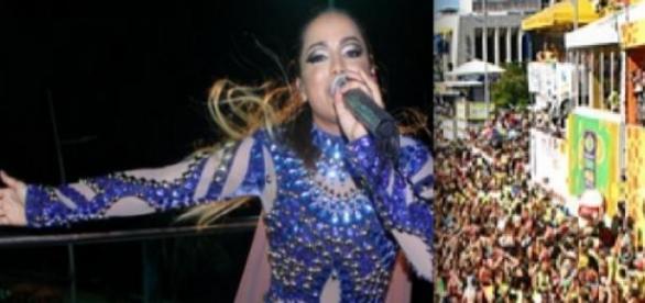 Anitta em sua estreia no carnaval de Salvador