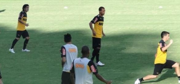 Atlético Mineiro treina para jogo contra a Pantera