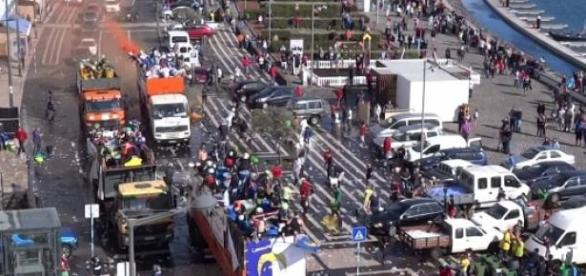Batalha das limas anima Ponta Delgada