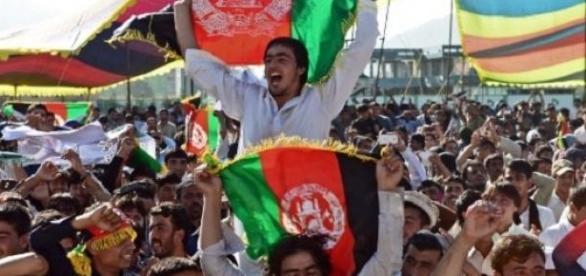 Afghan cricket fans got behind their team on debut