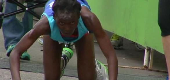 Atleta caiu a 400 metros da meta