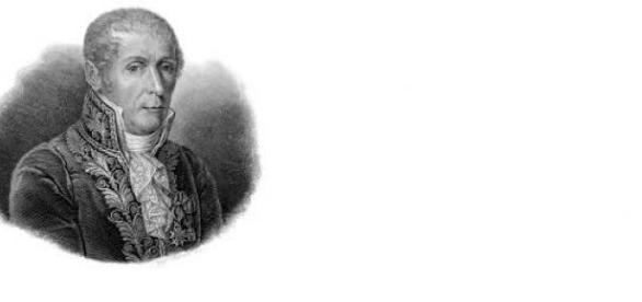Fotografia ni-l prezinta pe Alessandro Volta