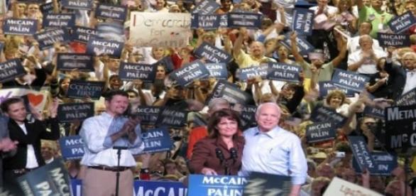 Gran mitin del Partido Republicano en el año 2008.