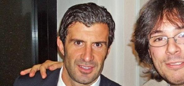 Luis Figo (left) unveiled his Fifa president ideas