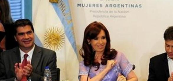 Cristina Kirchner, Axel Kicillof, Jorge Capitanich