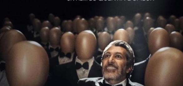Alain Chabat sur l'affiche du film Réalité