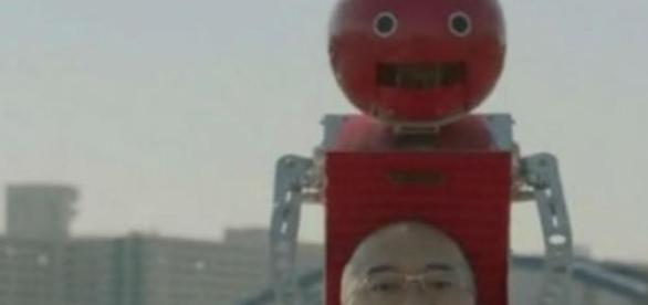 Es un curioso robot construido en Japón
