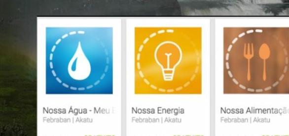 Google Play: APP sobre água, energia e alimentação