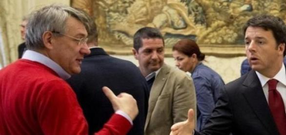 Renzi e Landini, eterni duellanti