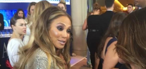 Nadia Comaneci impreuna cu Jennifer Lopez