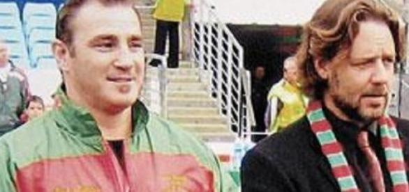 Russell Crowe watched his Rabbitohs win