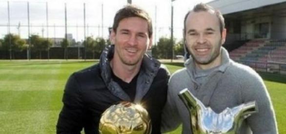 Iniesta y Messi van a ser papás